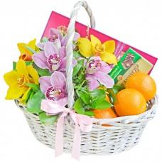 Корзина Райские орхидеи